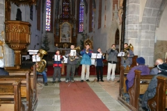 Žesťový soubor v kostele